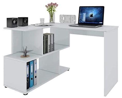bureau blanc angle droit