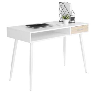 bureau blanc design et moderne Woltu
