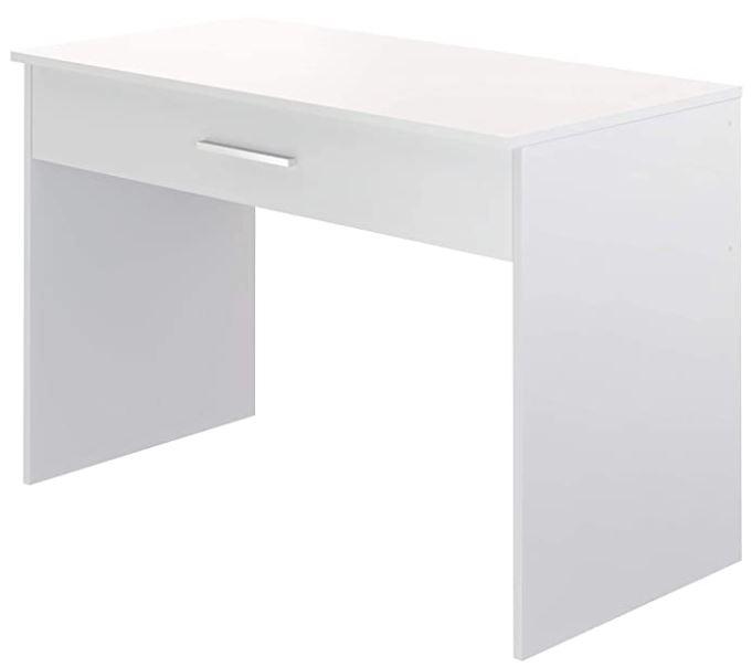 bureau blanc movian avec un tiroir