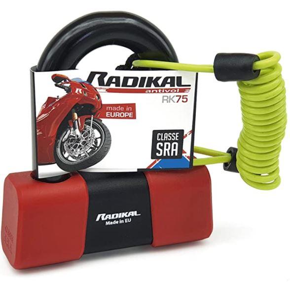 cadena antivol moto rouge mini U