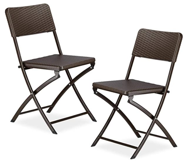 chaises pliantes entree de gamme lot de 2