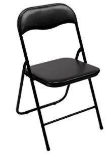 chaises pliantes pas cher Tooland noires