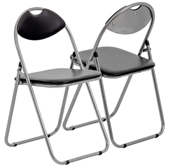 chaises pliantes pas cher rembourrees lot de 4
