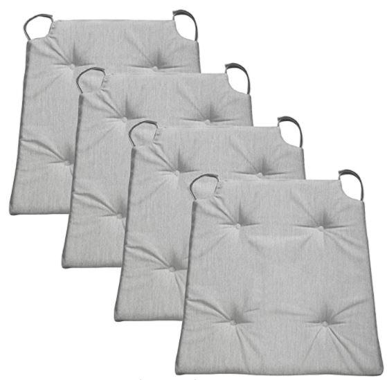 galettes de chaise grises x4
