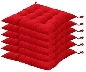 galettes de chaise rouge matelassees