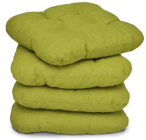 galettes de chaise verte beautissu