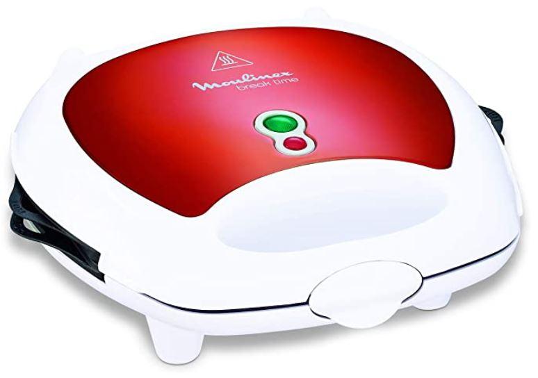gaufrier moulinex rouge et blanc