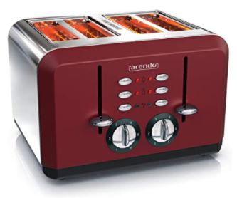 grille pain arendo rouge