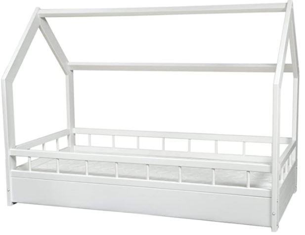 lit cabane blanc pour enfant