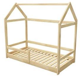 lit cabane en pin