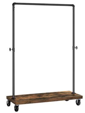 portant de vetement solide avec base en bois