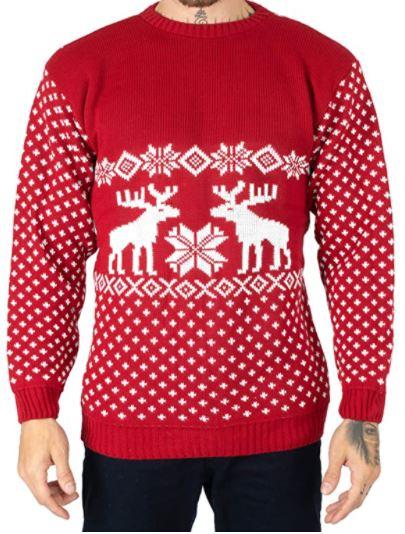 pull de Noel masculin rouge