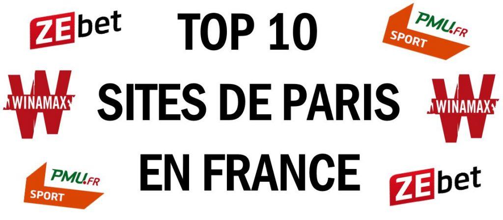 TOP 10 meilleurs sites de paris sportifs en france